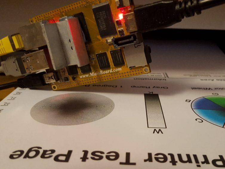 Printer Server on Marsboard