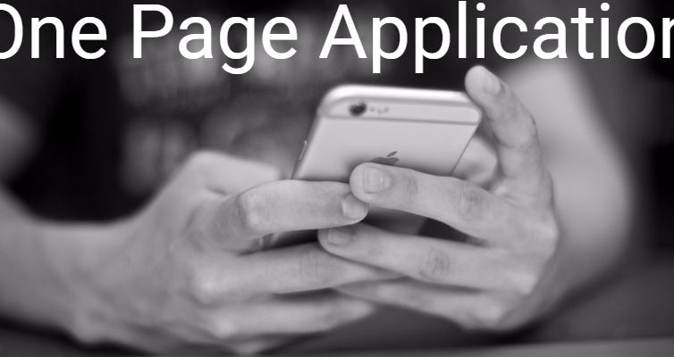 How to create the One Page Application